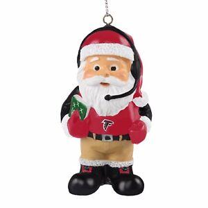 Atlanta Falcons Coach Santa Resin Holiday Christmas Tree Ornament New