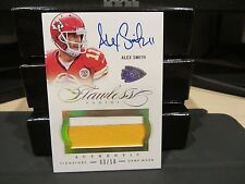 Panini Flawless Gold On Card Autograph Jersey Chiefs Alex Smith 03/10  2015