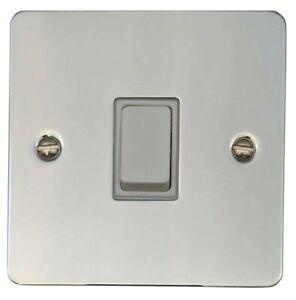 G&H FC205 Flat Plate Polished Chrome 1 Gang Intermediate Light Switch