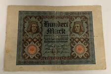 Germany 100 Mark, 1920 RBD