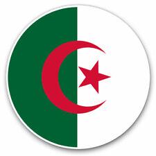 2 x Vinyl Stickers 25cm - Algeria Flag Map Cool Gift #9051