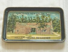 Vintage Paper Mache Tray Lincoln's New Salem, Il Miller-Kelso Dogtrot Residence