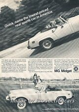 1977 1978 MG Midget Original Advertisement Print Art Car Ad H68