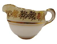 Vintage Howard Stuart Fine Bone China Creamer Made in England Gold Trim Floral