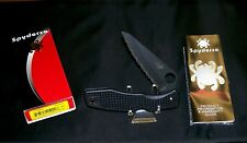 Spyderco H1 Pacific Salt Knife C91SBBK Titanium Clip H1 Blade W/Package,Papers