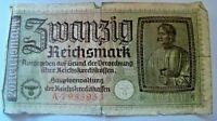 20 Reichmark ( A 7953953) Reich Bank Note - Swastika Nazi Reich