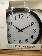 Wanduhr XXL (Große Uhr ohne tickgeräusche, 40cm großes Ziffernblatt, geräuschar