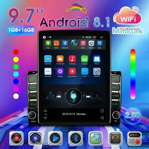 9.7'' Android8.1 Vertical Screen Car Stereo Radio GPS WiFi Bluetooth Player 2Din