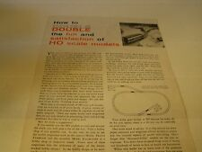 How to Double the Fun and Satisfaction of Ho Scale Models Railroad Train Booklet