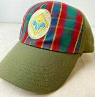 BSA, Boy Scouts of America Webelos Cap Hat Green Plaid Twill, S/M