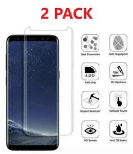 2X Samsung Galaxy Note 8 & Note 9 Case Friendly Tempered Glass Screen Protector