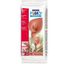 Fimo air Basic Modelliermasse, Soft Polymere weiß, 1.000 g Ton Knete Bastelmasse