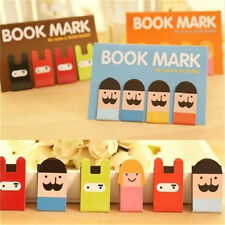 Lovely Girl Beard Magnetic Bookmark Book Mark Clip Decoration 1 Set 4pcs♫