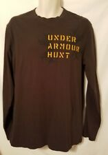 UNDER ARMOUR HUNT CHARGED COTTON LONG SLEEVE SHIRT, SIZE LARGE
