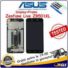 TOUCH SCREEN VETRO +LCD DISPLAY +FRAME PER ASUS ZENFONE LIVE ZB501KL NERO