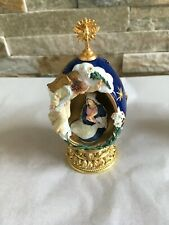 "Franklin Mint Faberge Egg 4 3/4"" tall ""The Annunciation"" Collectible numbered"