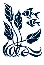 Seashells Nautilus Ocean Stencil Card Craft Quilting Airbrush Tattoo Free Post