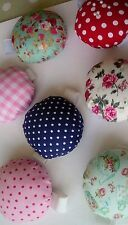 Handmade Wrist Pin Cushions-Lovely Designs in Cotton Fabrics