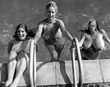 1960s Risque Roberta Pedon, Nika Movenka and Rosalie Straussl 8 x 10 Photograph