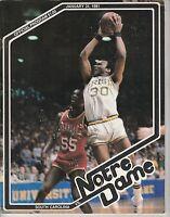 JAN 31 1981 COLLEGE NCAA BASKETBALL program NOTRE DAME vs SOUTH CAROLINA