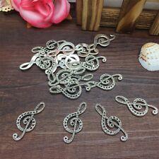 New Charm 6pcs Note Symbol Tibet Silver Pendant Fit for Bracelet Necklace PJA26