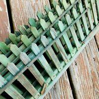 "4 vtg wood picket fencing for train set Christmas village sm tree 36""L x 5""H"
