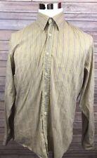 HUGO BOSS Multi-Color Striped Slim Fit Long Sleeve Button Front Shirt Medium
