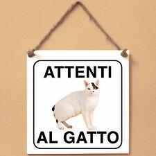 Bobtail giapponese 3 Attenti al gatto Targa gatto cartello ceramic tiles