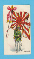 MILITARY / FLAGS - ANON. - 10 RARE FLAGS WITH SOLDIERS CARDS - JAPAN  -  1902