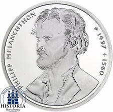 BRD 10 DM Philipp Melanchthon 1997 Silber Stempelglanz Münze in Münzkapsel