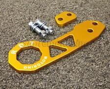 RDT Gold Anodized Billet Aluminum Racing Rear Tow Hook Kit Honda Acura Mazda