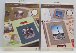 2 Martha Stewart Photo Mat Picture Frame Boards Scrapbooking Crafts Lot NEW