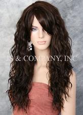 Super model Long HEAT SAFE Wavy Full Body Wig Dark Brown HSP 4