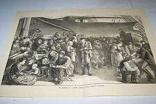 #00-0036 10/19/1872 ANTIQUE PRINT (GERMANY) - LLOYD - ATLANTIC STEAMSHIP -GERMAN