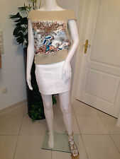 HERMES MINI JUPE COTON STRETCH BLANC ROCK MINIROCK SIZE 36 STORE PRICE €800.00