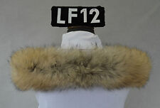 Fell Schal Pelz Kapuze Racoon-natur Fellstreifen Kapuzenstreifen  63 cm LF12