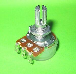 Alpha 1 Meg ohm Audio Taper / Log Pot, Solder Lugs Split Shaft, Potentiometer EE