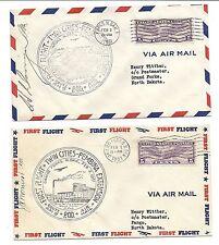 US FFC Cover Lot of 2 - CAM 9 - February 2 1931 - North Dakota, Signed