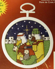 Three Wise Men - Cross-stitch Christmas Ornament to do - with frame