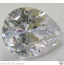 8.00 x 12.00 mm 3.00 ct PEAR Cut Sim Diamond, Lab Diamond WITH LIFETIME WARRANTY