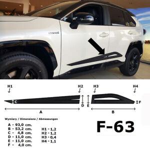 Seitenschutzleisten schwarz Design A für Toyota RAV 4 5.Generation 01.2019- F63