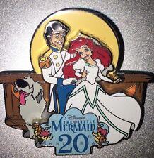 Disney Pin Ariel  Eric  Wedding Dress Le 20 20th Anniversary DLR LITTLE MERMAID