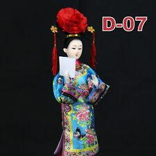 D-07 China Qing-Dynastie Geisha chinesisch Puppe Figur Seide 31cm  groß