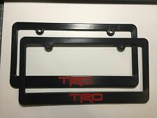 Toyota Racing Development TRD Plastic License Frames Vinyl Decal RED Two