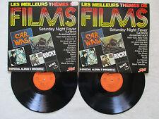"""2 LP 33T VARIOUS """"Les meilleurs thèmes de films"""" ATOLL MUSIC 78 003/04 FRANCE §"""