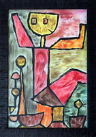 PAUL KLEE - Lovely Original MIXED MEDIA DRAWING on PAPER Signed & Framed.