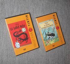 2 DVD TINTIN COLLECTION LE LOTUS BLEU LE TRESOR DE RACKHAM NEUF SOUS BLISTER