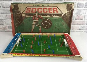 Vintage Chad Valley Soccer 1960s Table Football Game Tinplate No Ball Or Instrc