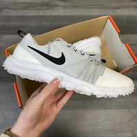 NIKE FI IMPACT 3 WOMENS GOLF SHOES TRAINERS WHITE/GREY UK6 US8.5 EUR40