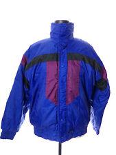 Vintage 1980's Alpine Ski Puffy Jacket Coat Blue Purple Womens Extra Large Xl